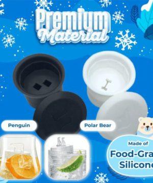Polar Bear Ice Mold,Penguin Ice Mold,ice cubes,Ice Mold,Polar Animal Ice Molds