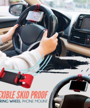 Skid Proof Steering Wheel Phone Mount