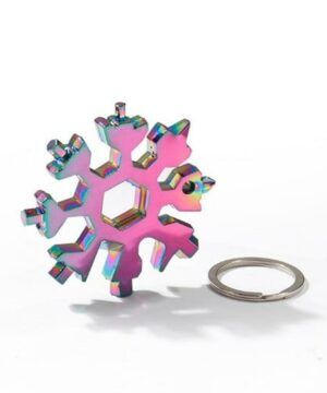 18-in-1 Portable Stainless Steel Snowflake Multi-Tool